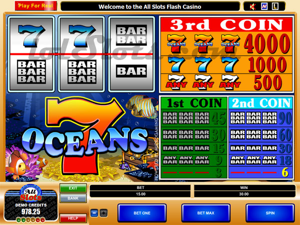 free play online slot machines ocean online games