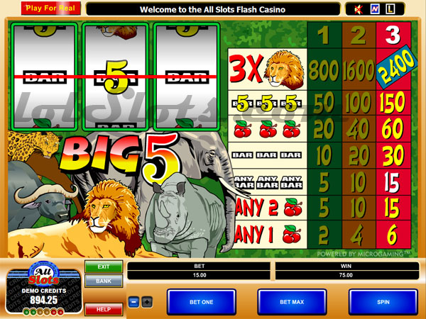 Big 5™ Slot Machine Game to Play Free in Microgamings Online Casinos