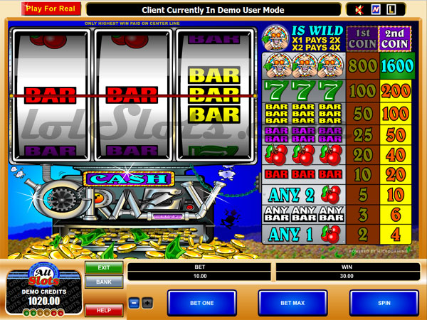 cash crazy slots game