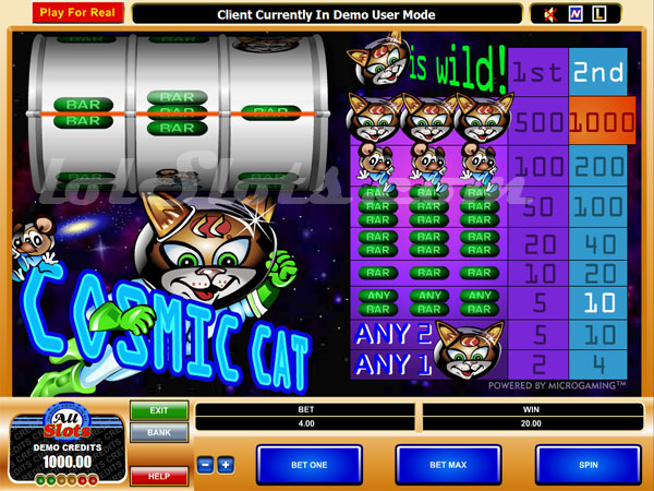 cosmic cat slots game