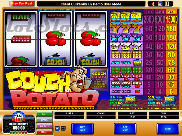 couch potato slots game