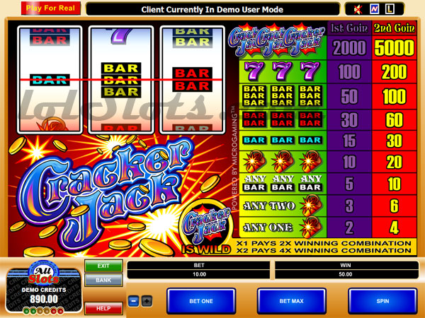 Cracker Jack™ Slot Machine Game to Play Free in Microgamings Online Casinos