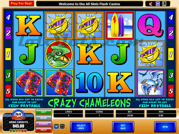 instantly play the Crazy Chameleons slot machine game in your browser