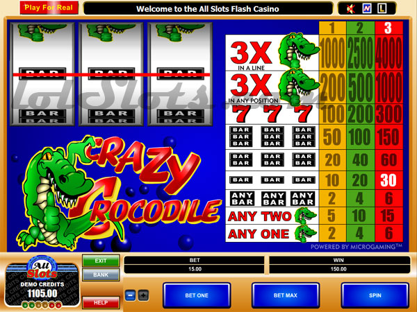 crazy crocs slots game
