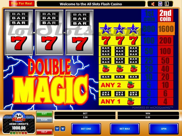 double magic slots game