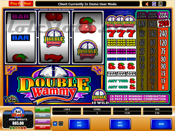 double wammy slots game