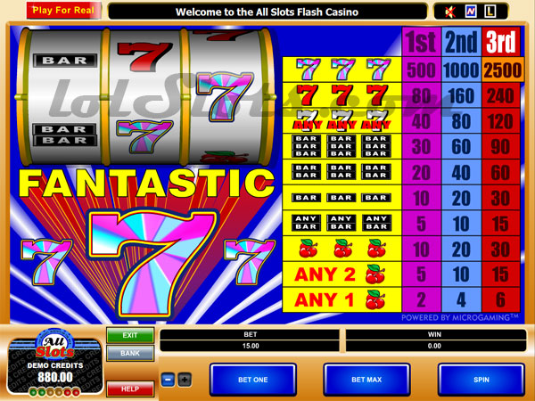fantastic 7 slots game