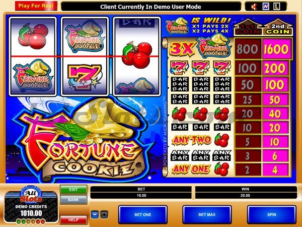 fortune cookie slots game