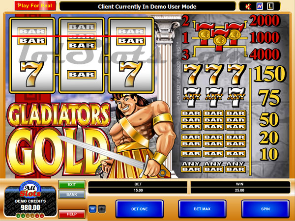 gladiators gold slots game