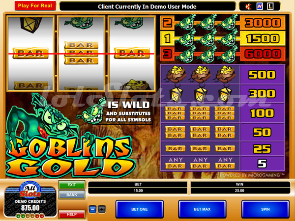 Click on the image above to instantly play the goblin s gold slot
