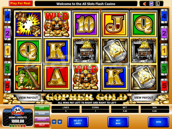 gopher gold slots game