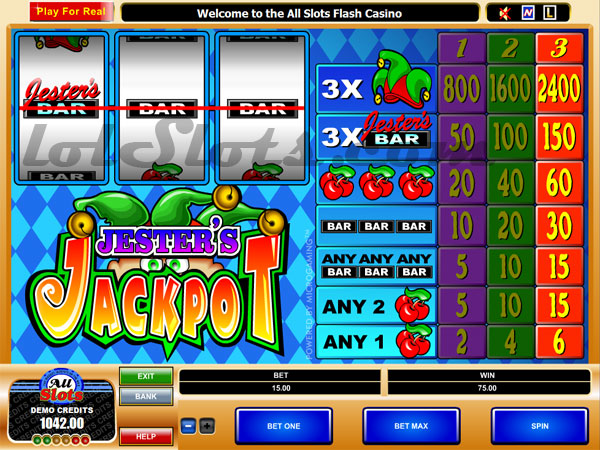 jesters jackpot slots game