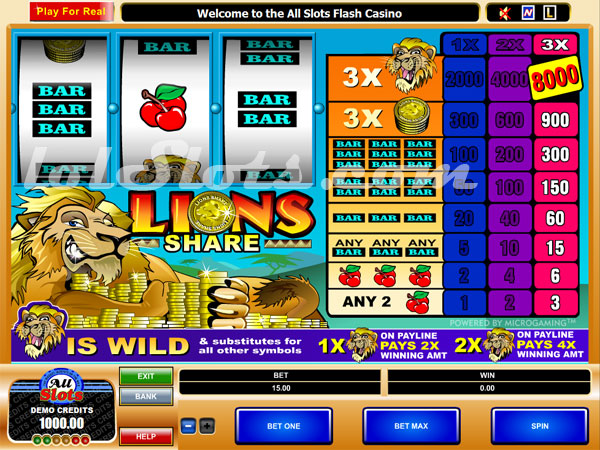 lions share slots game