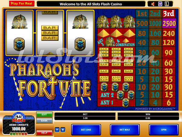 pharaohs fortune slots game