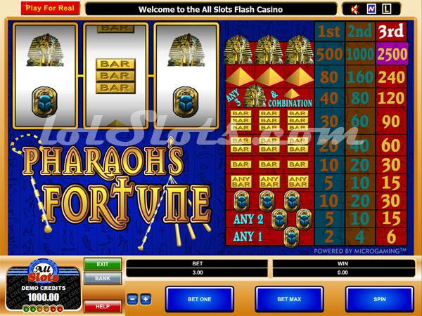 pharaohs slots no download or registration
