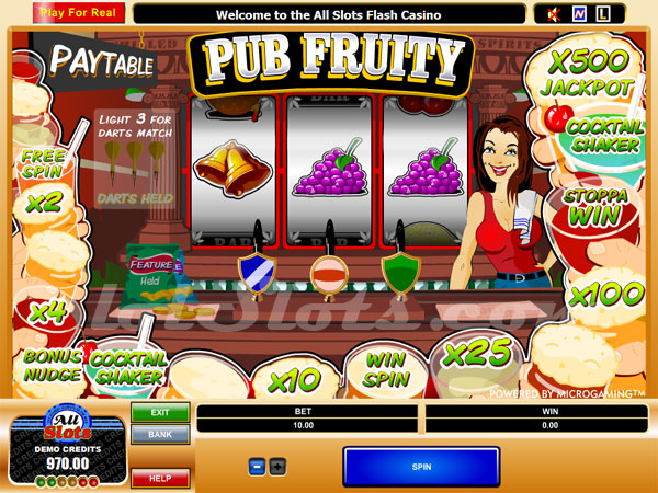 pub fruity slots game