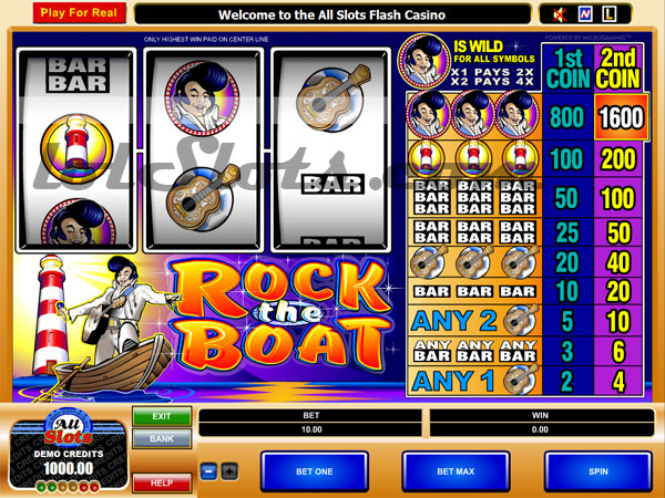 rock the boat slots game