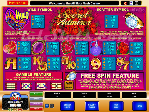 Secret Admirer™ Slot Machine Game to Play Free in Microgamings Online Casinos