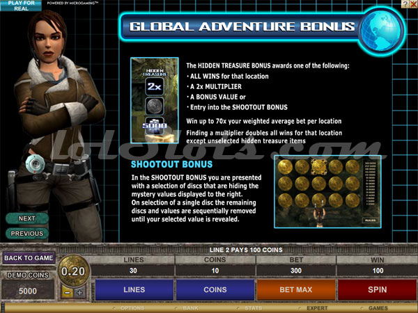 lara croft slots second bonus