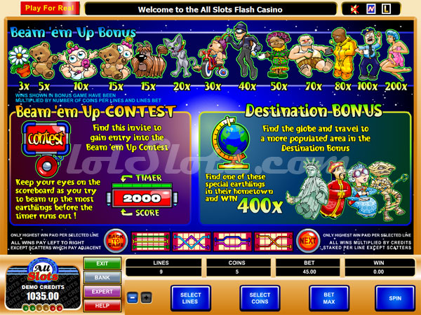 what on earth slots bonus game